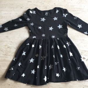 Other - Black with silver starts girl dress